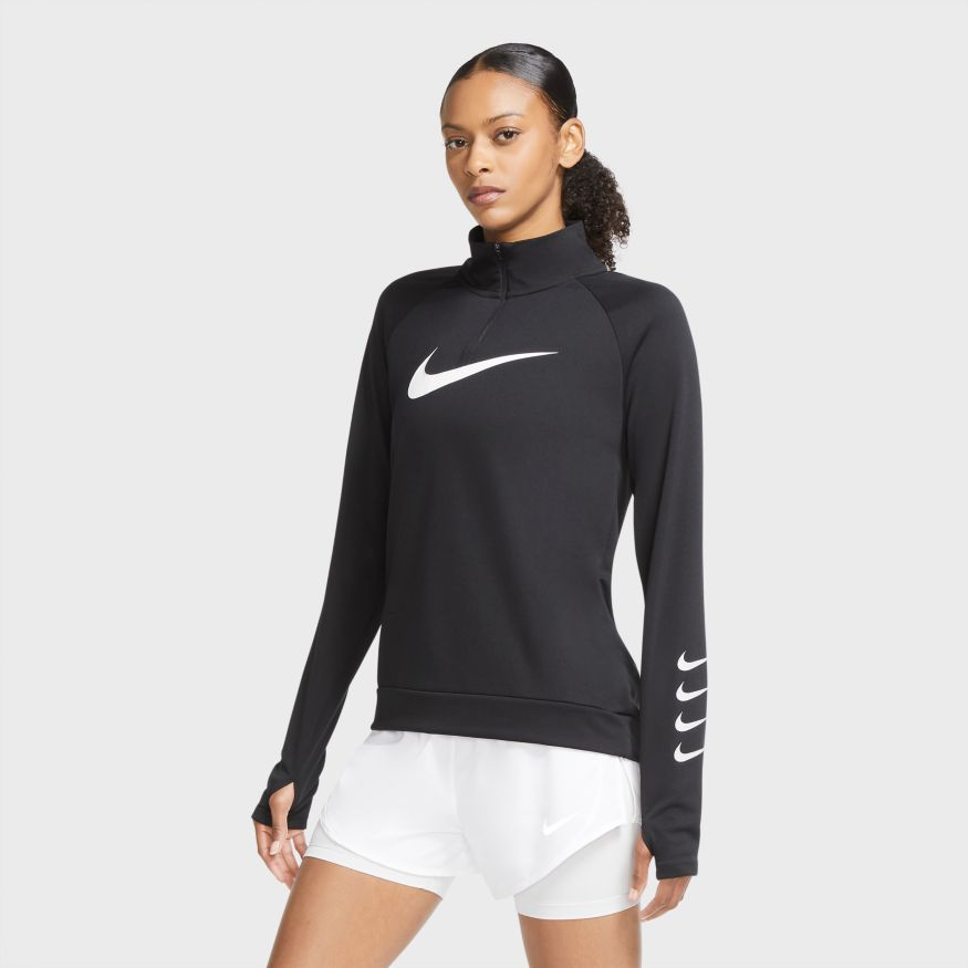 Толстовка Nike W NK SWOOSH RUN TOP HZ