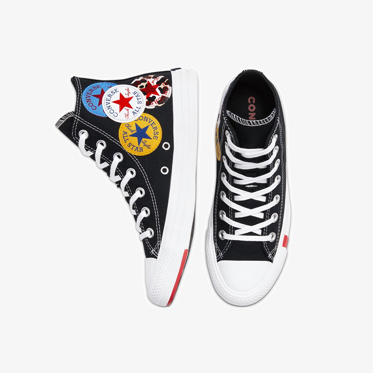 Кеды CONVERSE CTAS HI BLACK/UNIVERSITY RED/AMARILLO 166734C фото