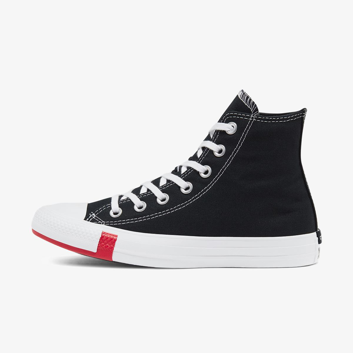 Кеды CONVERSE CTAS HI BLACK/UNIVERSITY RED/AMARILLO