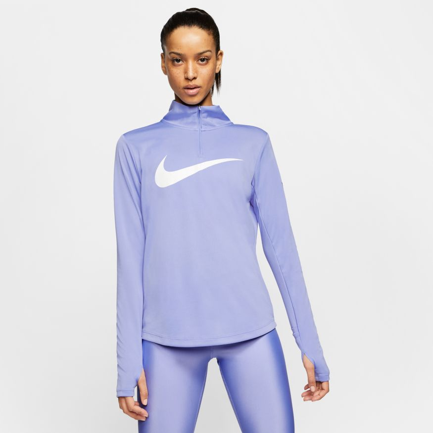 Футболка  с длин.рук. Nike W NK MIDLAYER QZ SWSH RUN